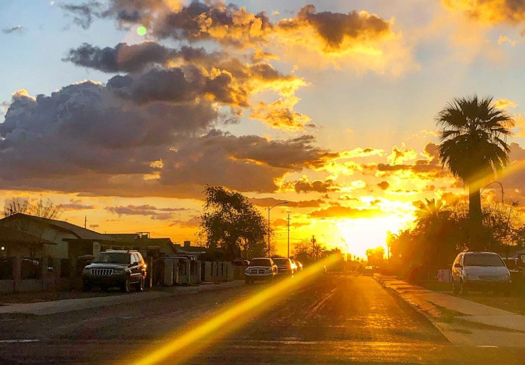 neighborhood near 35th Avenue and Filmore Street in Phoenix