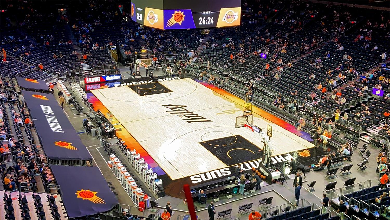Phoenix Suns Arena court playoffs