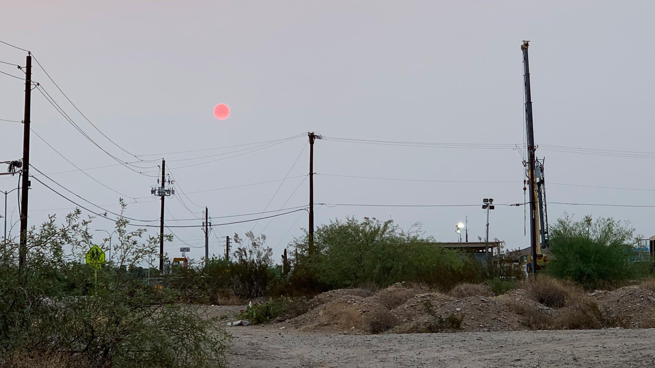 Phoenix hazy sky red sunrise