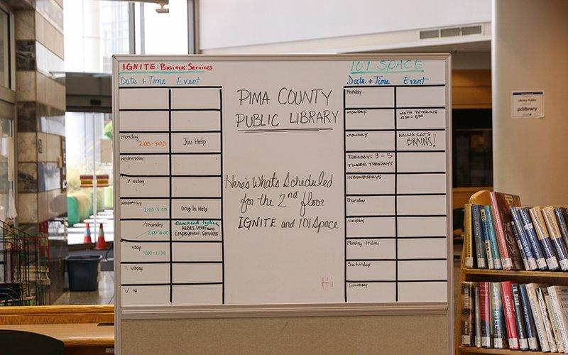 Pima County Main Library whiteboard
