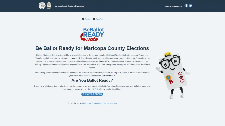 BeBallotReady.vote screen shot
