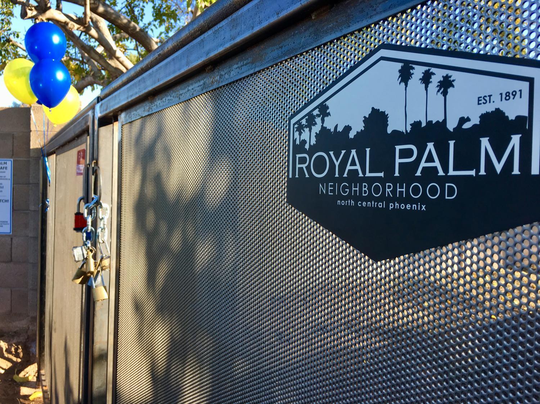 Gated alley in royal palm neighborhood in phoenix