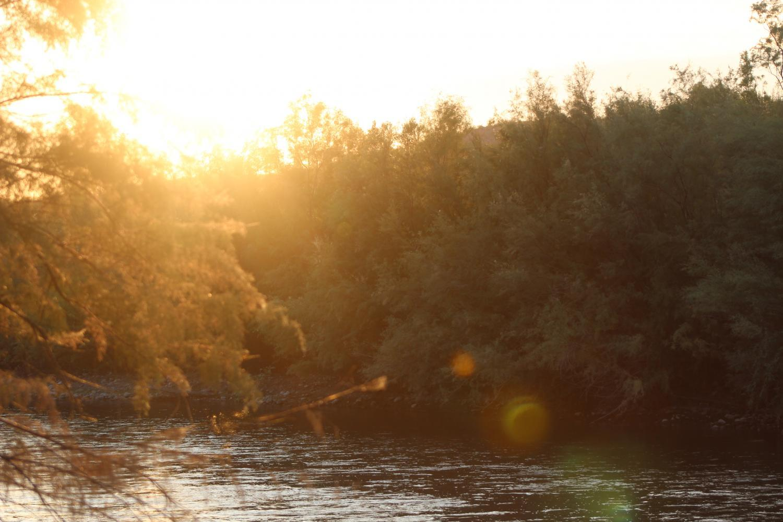 The Salt River at sunset