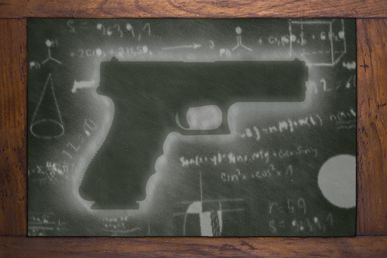 school shooting illustration
