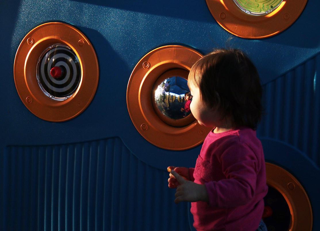 interactive mirrored wall