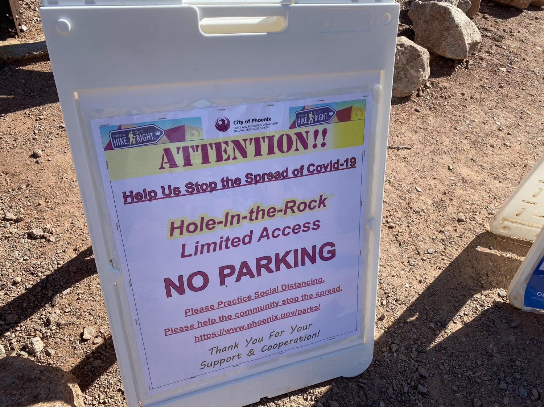 A sign at Papago Park