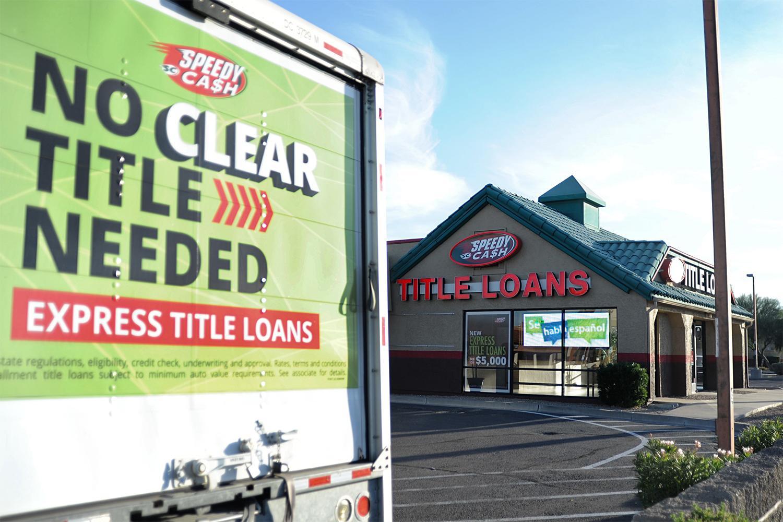Speedy Cash title loans