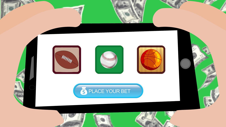 illustration of sports betting