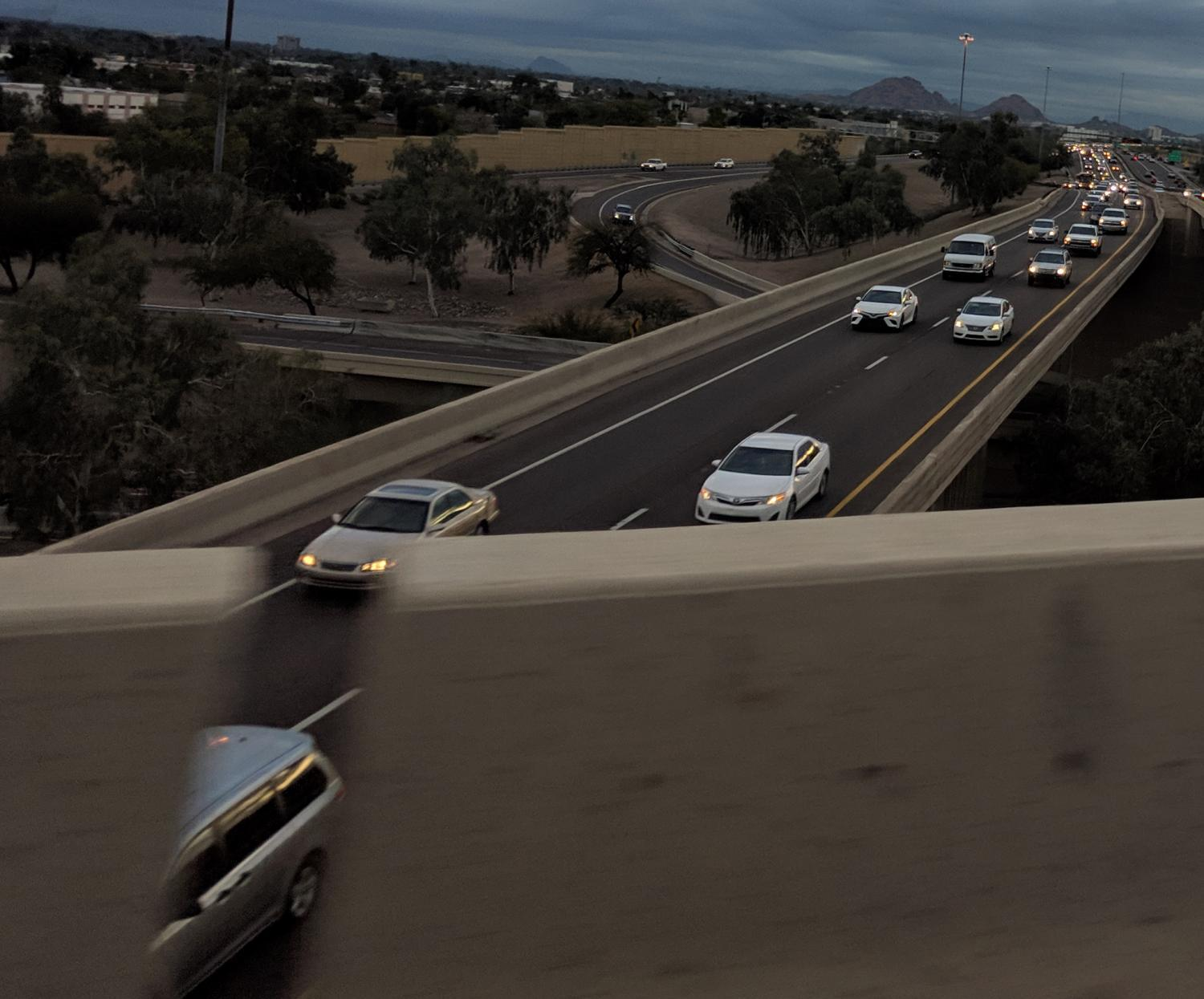 traffic on Interstate 10 in Phoenix