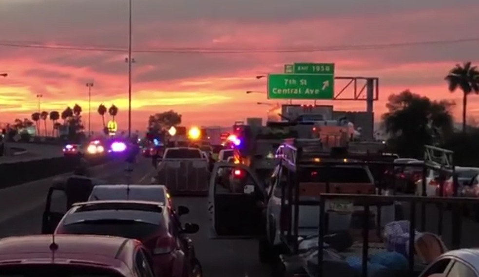 Traffic stopped on Interstate 17