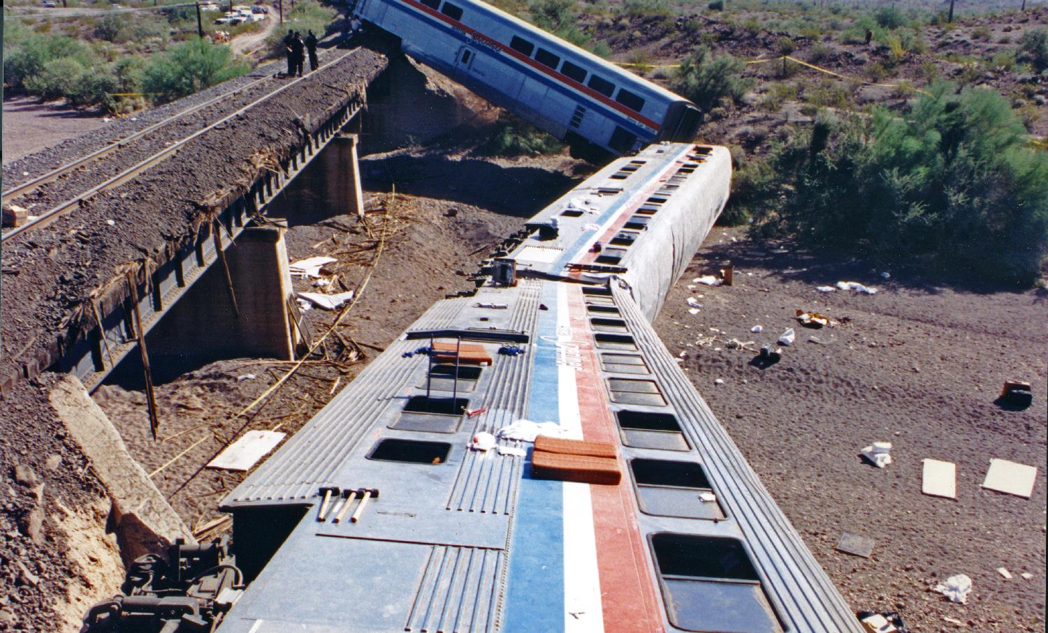 Amtrak derailment Arizona