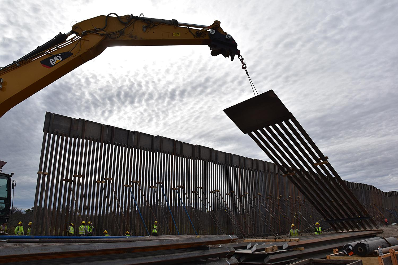 Tucson sector border wall construction
