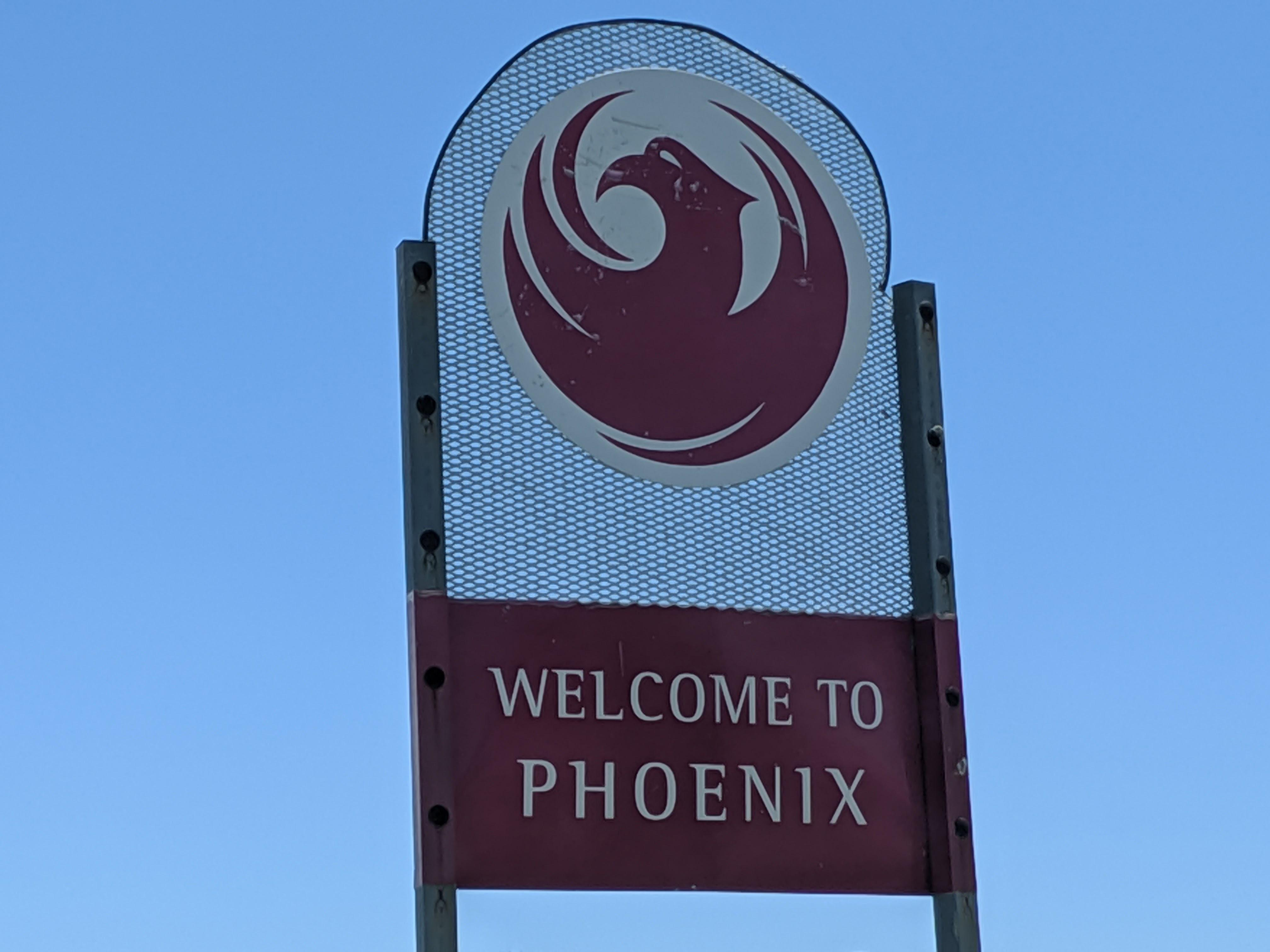 welcome to phoenix sign