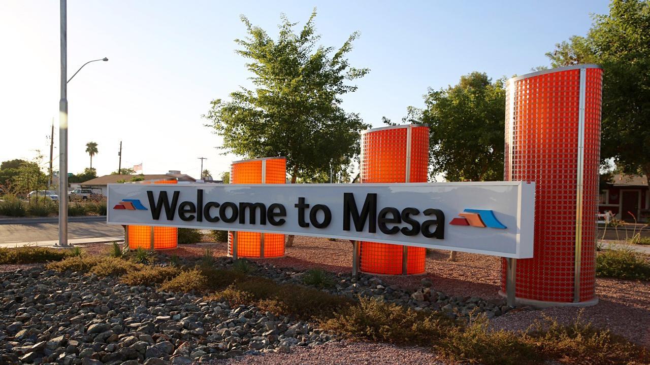 Welcome to Mesa Arizona sign