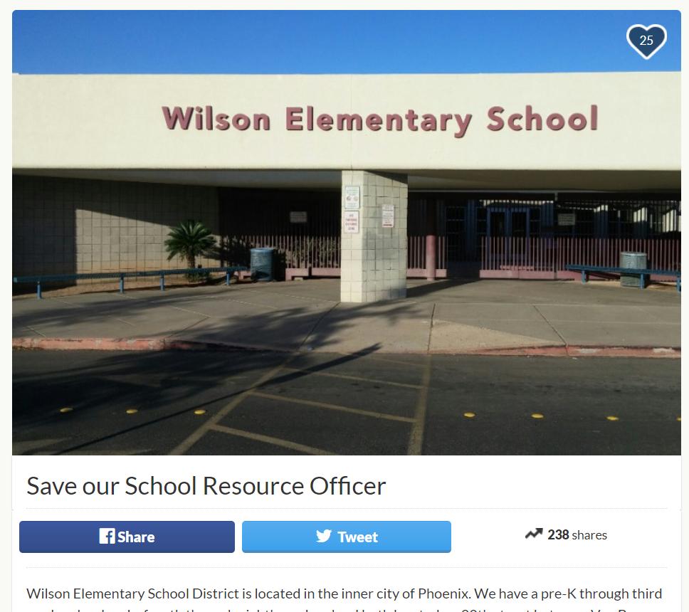 Wilson Elementary School District GoFundMe account