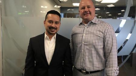 Roy Herrera and Doug Cole (on right)