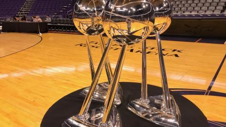 Phoenix Mercury WNBA title trophies