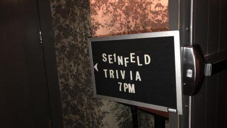seinfeld trivia sign