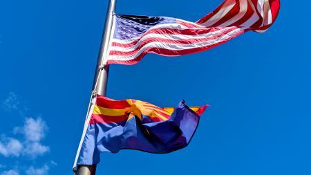U.S. and Arizona flag