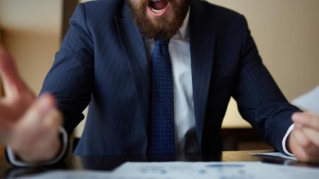 angry office worker