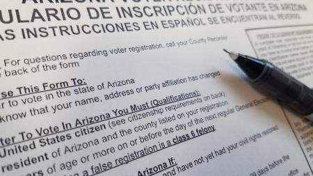 Arizona voter registration form