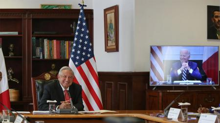 AMLO Joe Biden virtual meeting