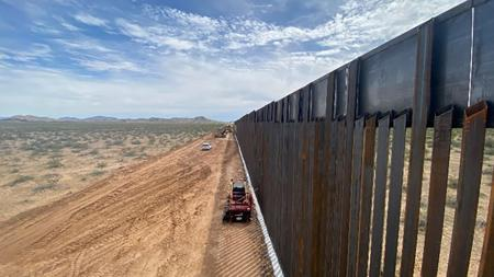 The border fence project in Yuma