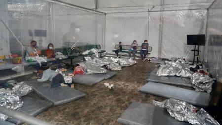 Donna Texas temporary migrant detention facility