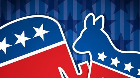 Republican and Democrat Symbols