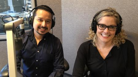 Roy Herrera (left) and Emily Ryan spoke to KJZZ's The Show for the Friday NewsCap.