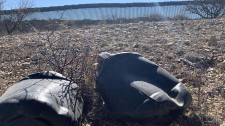 Border wall water bottle