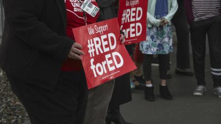 Red for Ed signs