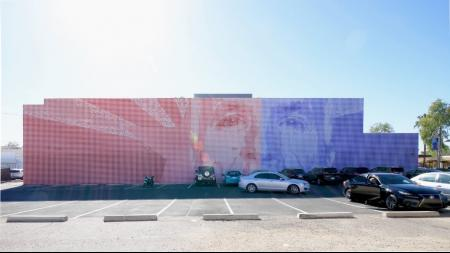 Artist's Rendering Of Completed Maverick Mural in Scottsdale
