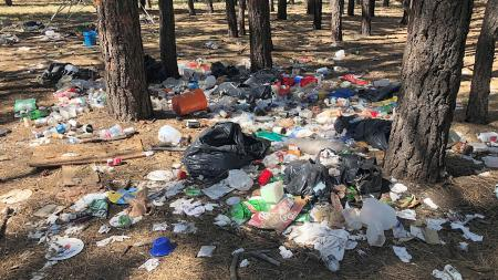 Campsite trash in Coconino National Forest