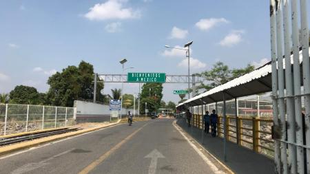 An official bridge crossing between Mexico and Guatemala