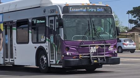 A Valley Metro bus in Phoenix