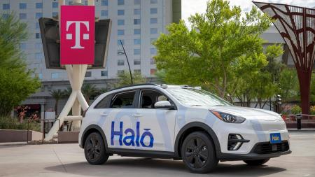 Halo partially driverless electric car