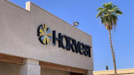 Harvest House of Cannabis Guadalupe dispensary sign