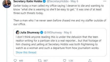Secretary Katie Hobbs tweet