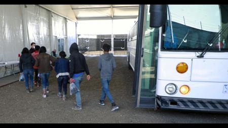 Unaccompanied children in the custody of the U.S. Border Patro
