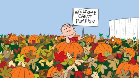 Linus welcome Great Pumpkin