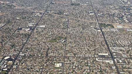 An aerial photo of Phoenix
