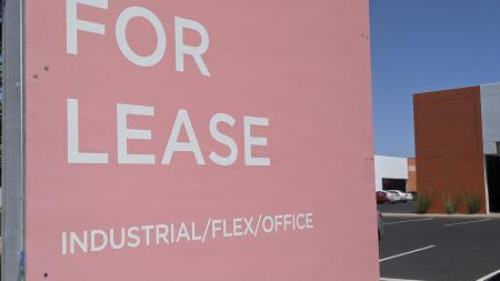 A for lease sign at an office complex in north Phoenix