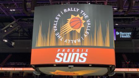 Phoenix Suns Arena center-hung scoreboard jumbotron