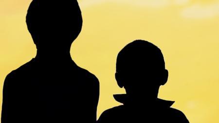 kids in silhouette