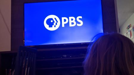 A child watches PBS
