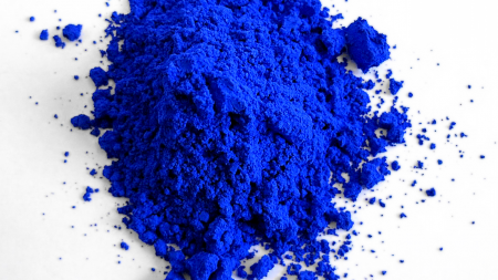 Pile of YInMn blue pigment