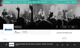 TuneIn website screenshot