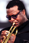 Wallace Roney with trumpet